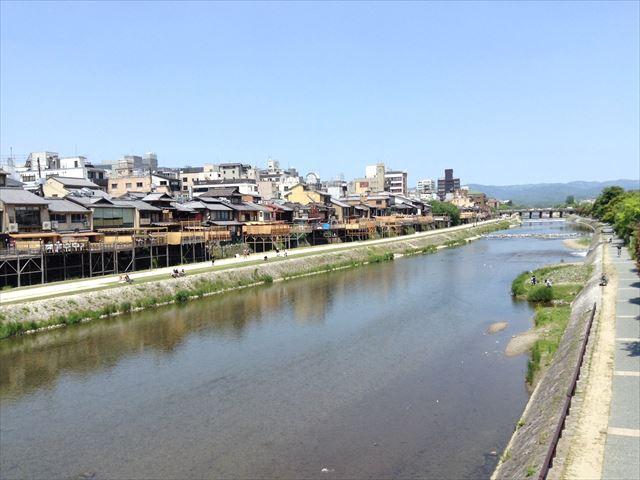 四条大橋からの鴨川