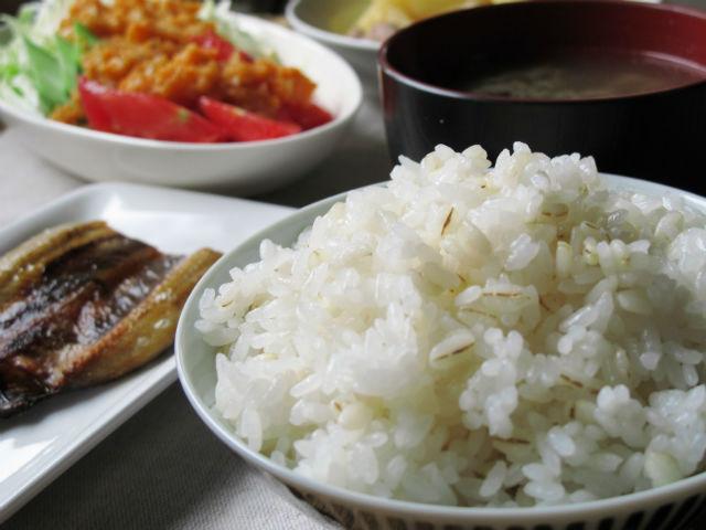 玄米ご飯とおかず