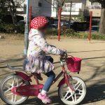子供が自転車に乗れるようになった