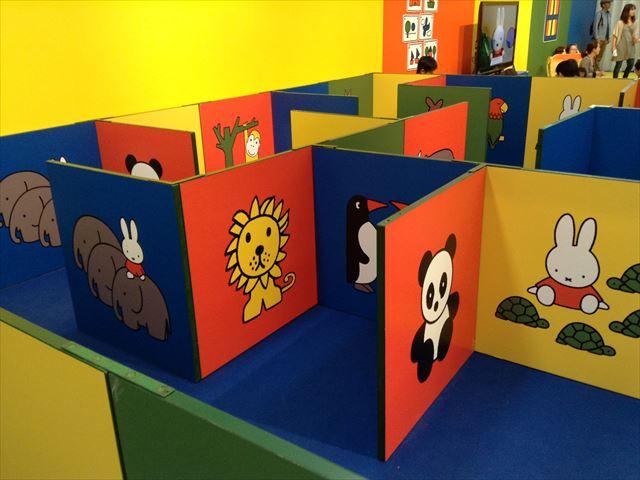イベント企画展「ミッフィワールド」の室内遊具・迷路