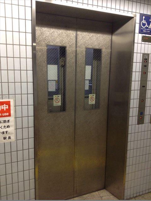 地下鉄森ノ宮駅7-A出口のエレベーター
