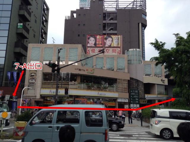 森ノ宮駅7-A出口を出てすぐの道