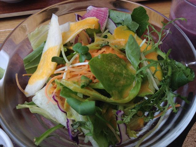 グリーンカフェ森ノ宮キューズモールBASE店の「日替わりランチ」サラダ