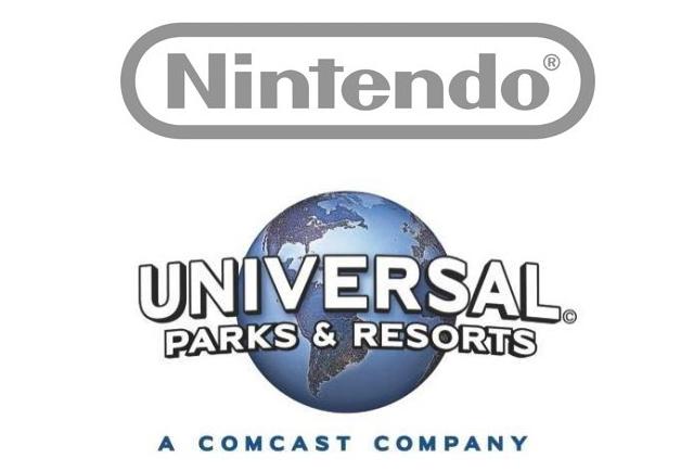 ユニバーサルと任天堂のロゴマーク