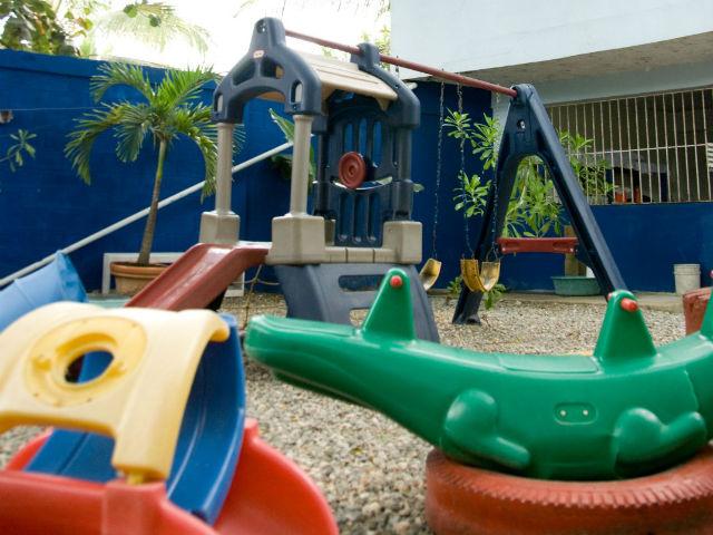 幼稚園のグラウンド