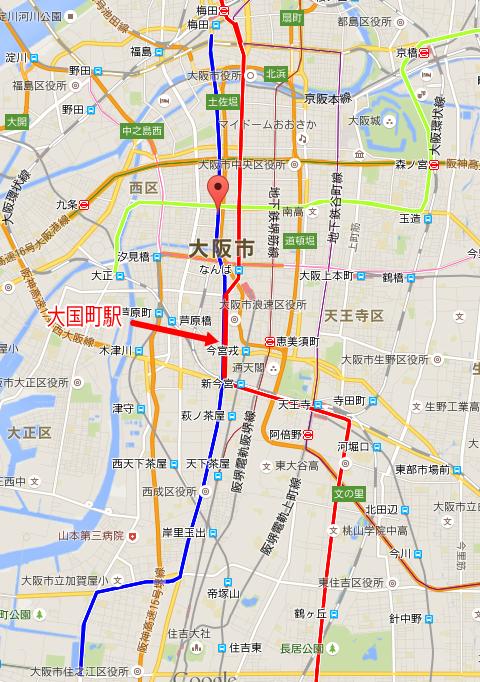大阪市営地下鉄御堂筋線&四つ橋線の地図