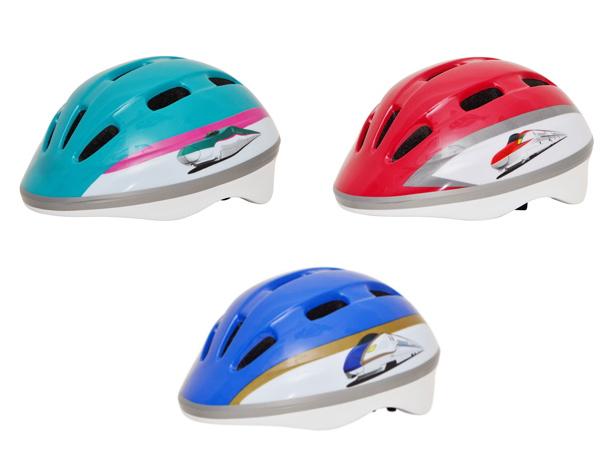 新幹線デザイン子供用ヘルメット3つ