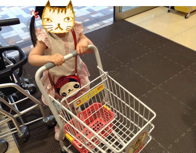 スーパーのお手伝いカート