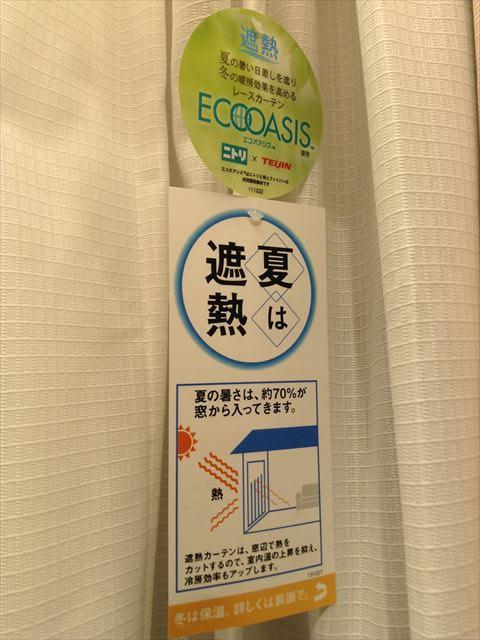 ニトリのレースカーテン「エコオアシス」