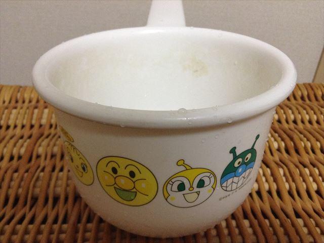 垢が付いている子供用桶