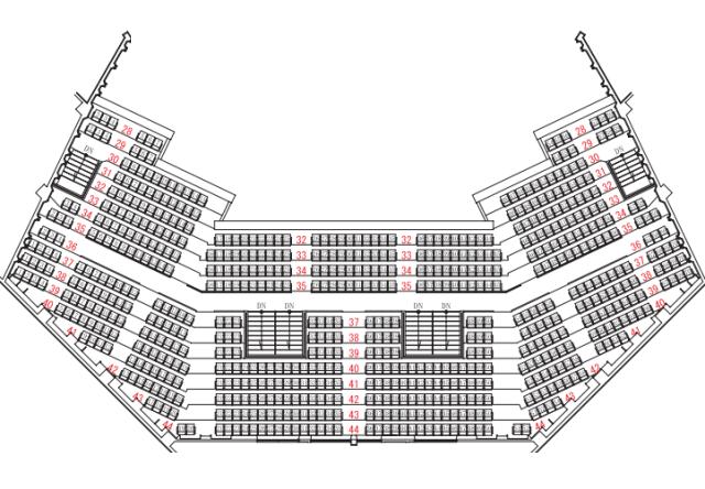 福島県文化センター大ホール2階座席表