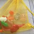 スーパーボールや金魚すくいのおもちゃを乾燥し収納できるネット