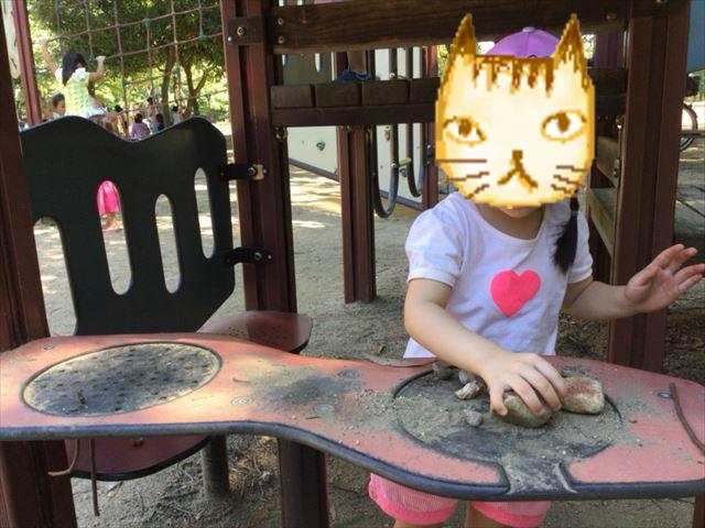「児童の森」大仙緑地公園の遊具・料理ごっこ