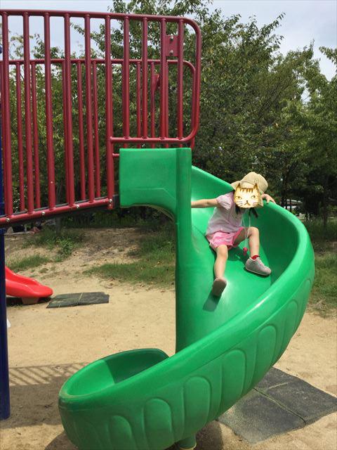 鶴見緑地公園の遊具③滑り台