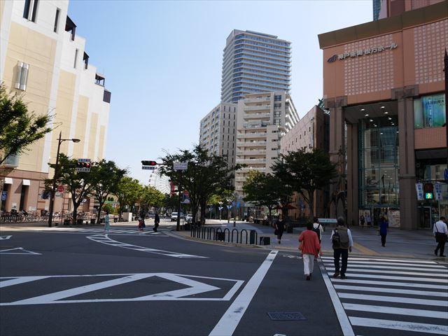 神戸アンパンマンミュージアムに向かう道