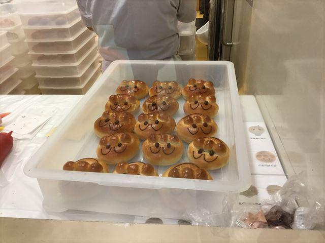 「神戸アンパンマンミュージアム」のジャムおじさんのパン工場のパン