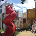 舞洲緑地公園の遊具広場(大型遊具)