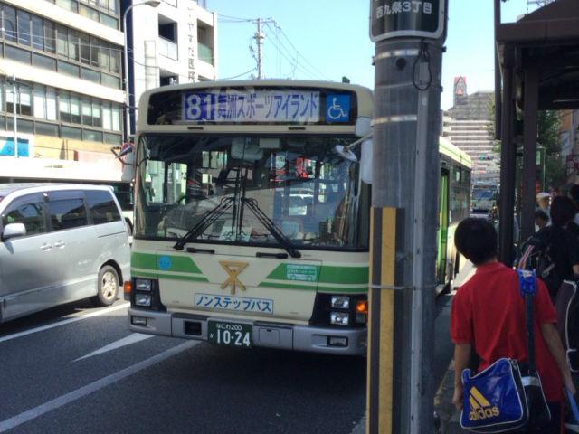 大阪シティバス81系統「舞洲スポーツアイランド」行き