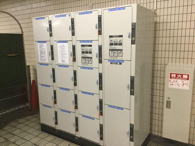 地下鉄「森ノ宮駅」西改札のコインロッカー