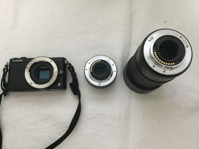 標準レンズから望遠レンズに交換
