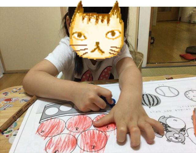 小学館「ぷちドラゼミ」の「はじめてのワークブック」を子供が学習