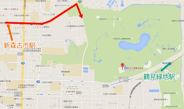 鶴見緑地公園アクセスマップ