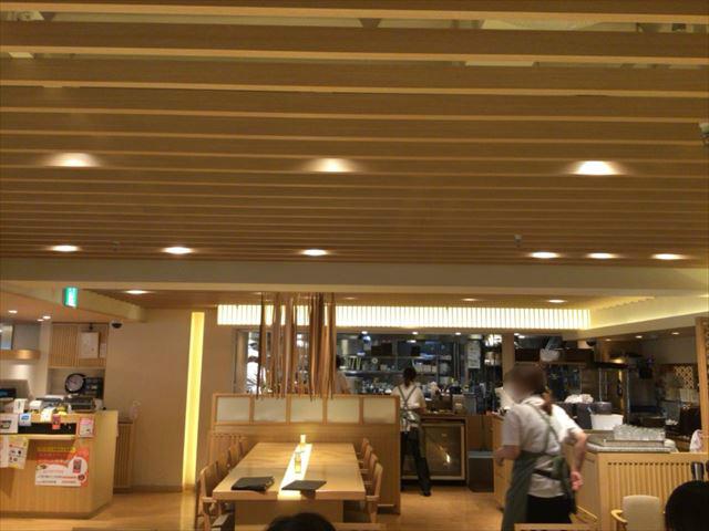 さち福やカフェ・天王寺ミオプラザ館店、店内の様子