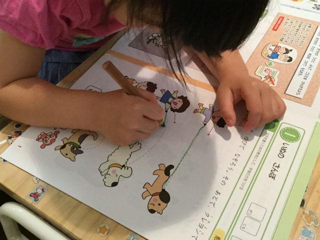 無料サンプル教材「Z会幼児コース(年少)」のおためし教材を学習