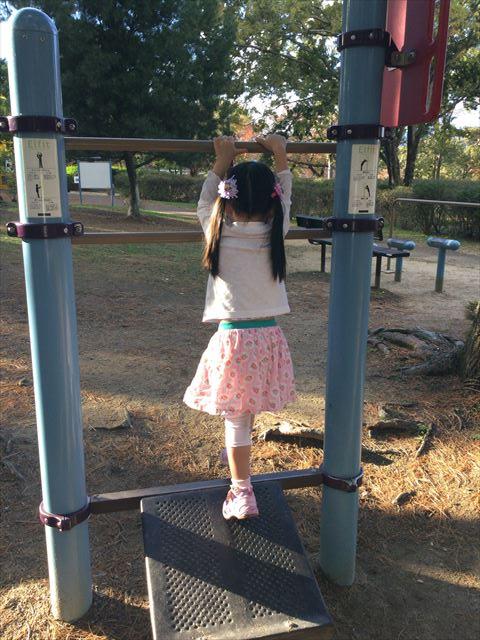 万博記念公園、子供の遊具公園「やったねの木」健康器具