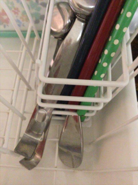 野田琺瑯水切りネットカゴの箸立て
