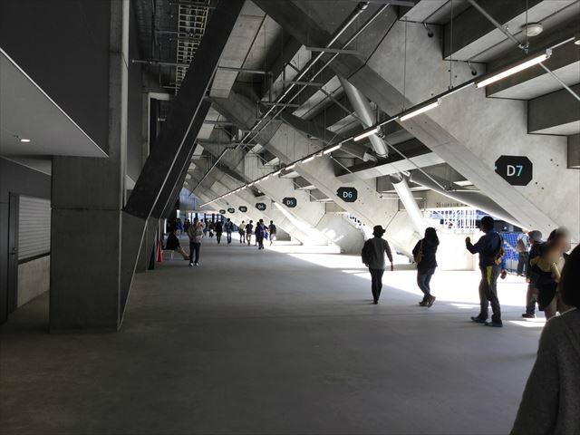 ガンバ大阪新スタジアム(市立吹田スタジアム)内を見学