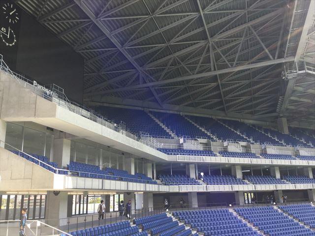 ガンバ大阪新スタジアム(市立吹田スタジアム)内を見学。2~3階席
