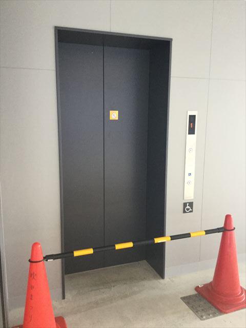 ガンバ大阪新スタジアム(市立吹田スタジアム)内を見学・エレベーター
