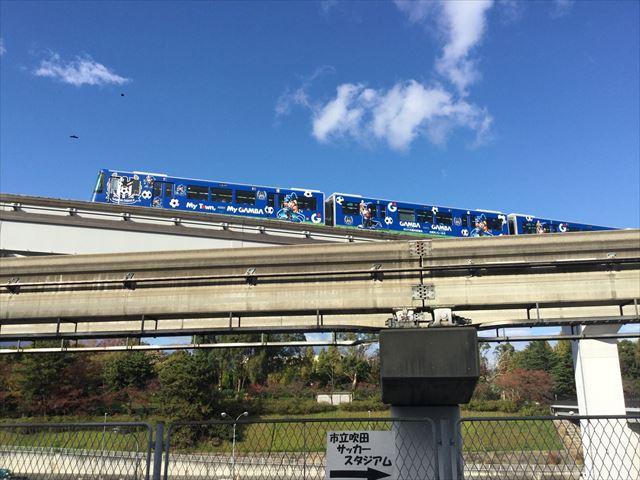 大阪モノレール・ガンバ大阪ラッピング