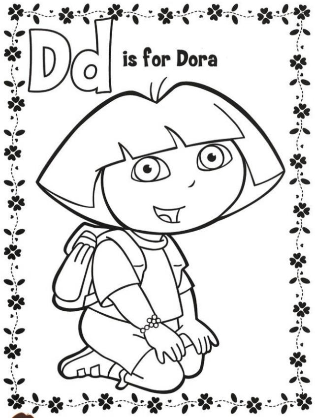 「ドーラといっしょに大冒険」塗り絵