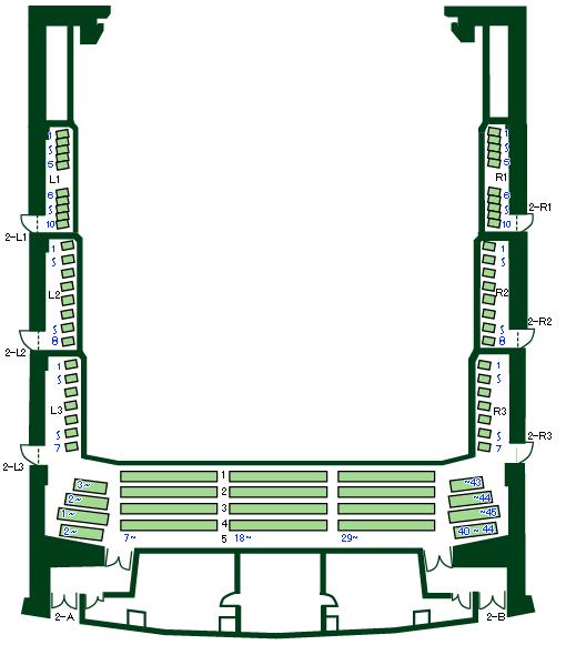 「松戸・森のホール21」2階席座席表