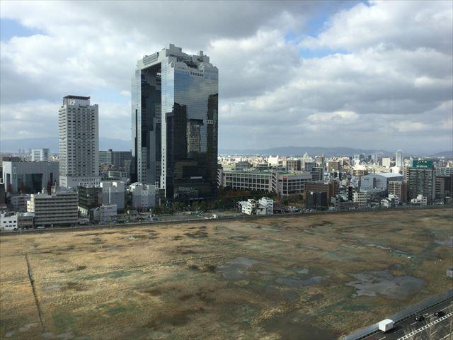 大阪ステーションシティ11階からの眺め