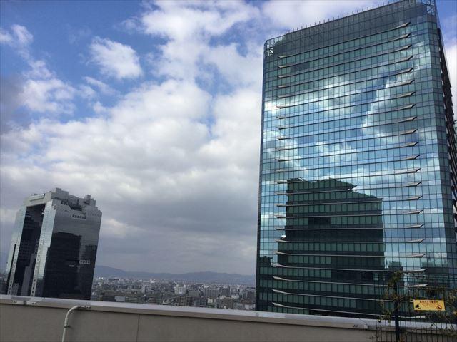 大阪ステーションシティ14階「天空の農園」からの眺め