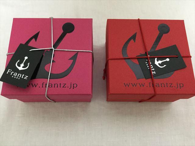 神戸フランツ「神戸苺トリュフ」と「神戸セレブショコラ」の外箱