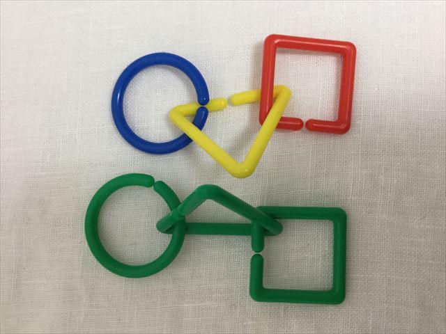 造形おもちゃ「図形チェーンセット」の使い方