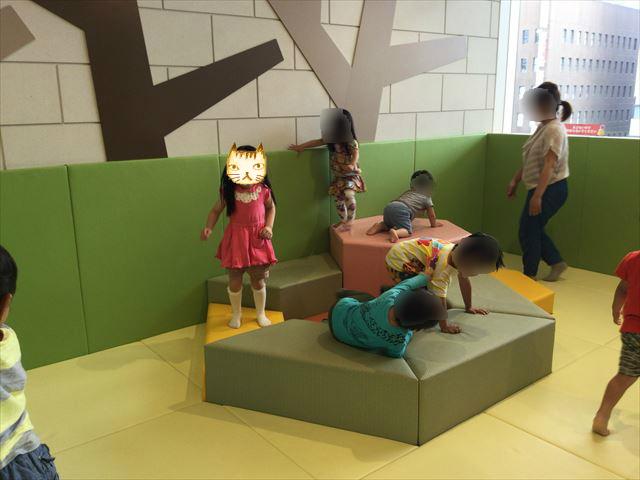 あべのキューズモール、子供の遊び場「キューズランド」4階のミニ遊び場