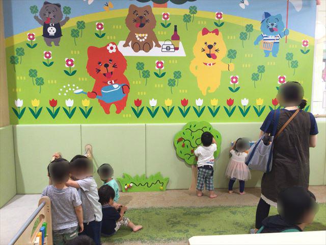 あべのキューズモール、子供の遊び場「キューズランド」0~2歳児対象の遊び場