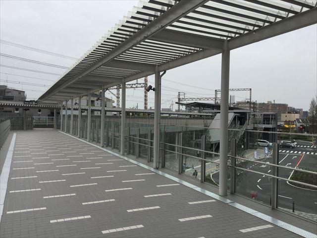 南海電車「七道駅」がイオンモール堺鉄砲町と直結の様子