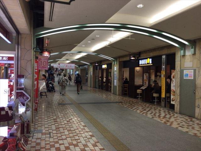 ディアモール大阪のマーケットストリート
