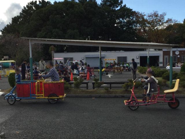 「万博おもしろ自転車広場」色々な自転車