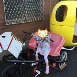 「万博おもしろ自転車広場」かぼちゃの自転車