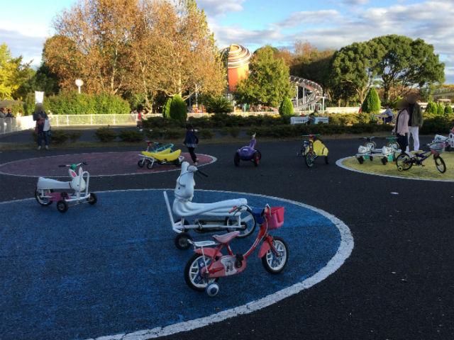「万博おもしろ自転車広場」の自転車