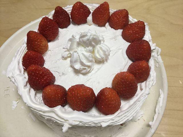 ケーキが完成