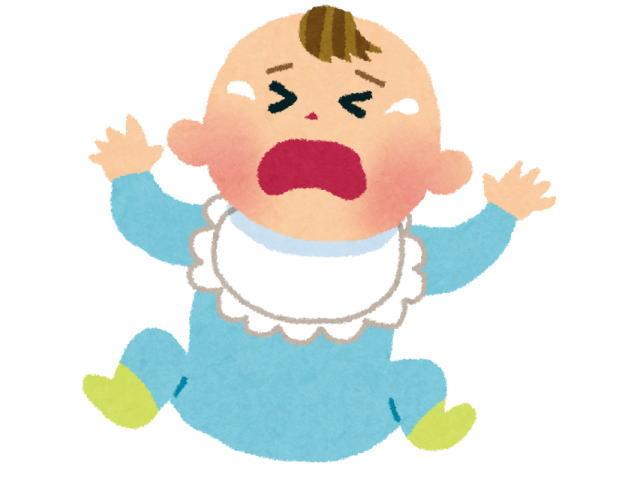 便秘で泣く赤ちゃんの様子