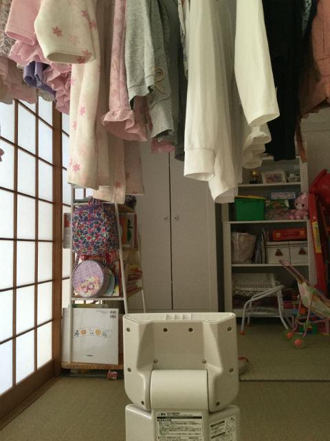 象印(ZOJIRUSHI)「RF-AB20」で衣類乾燥